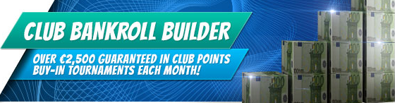 William Hill Poker Club Bankroll builder promo